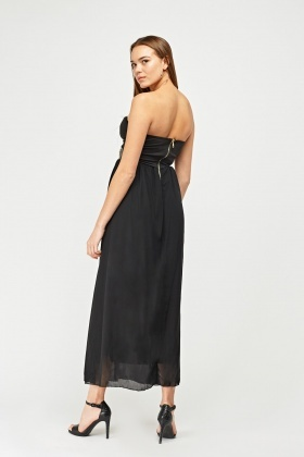 Long Grecian Strapless Sweetheart Dress