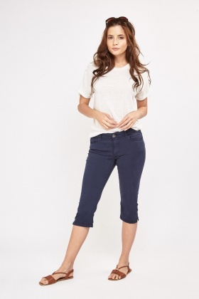 Low Rise Crop Denim Jeans