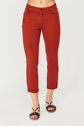 Low Waist Crop Skinny Jeans