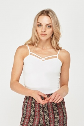 Pack Of 3 Basic Criss Cross Cami Tops