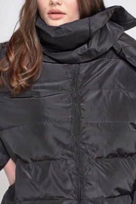 Padded Black Casual Jacket