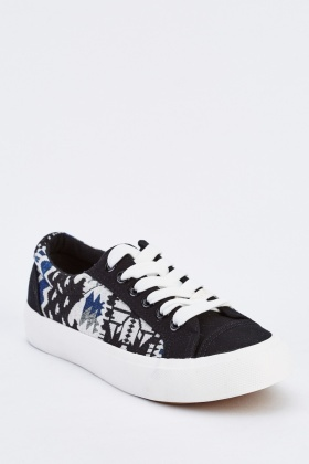 Aztec Contrast Low Top Trainers