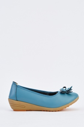 Bow Front Faux Leather Shoes