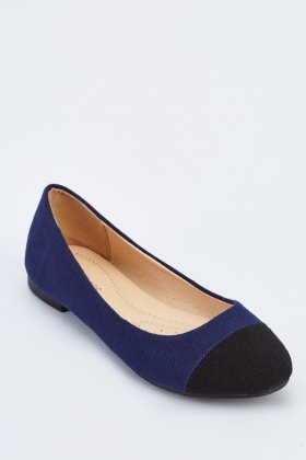 Colour Block Contrast Ballerina Pumps