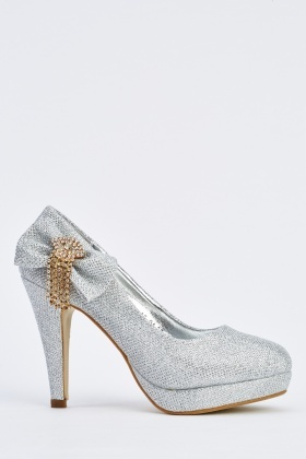 Embellished Side Pump Heels