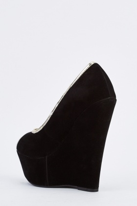 Peep Toe Platform Wedge Shoes