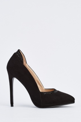 Suedette Court High Heels