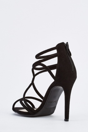 Suedette High Heel Sandals