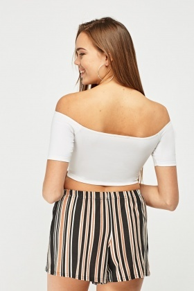 Basic Off Shoulder Crop Top