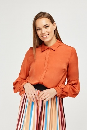 Bishop Sleeve Chiffon Blouse
