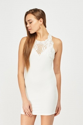 Crochet Insert Bodycon Dress