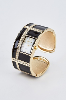 Diamante Cuff Bracelet Watch