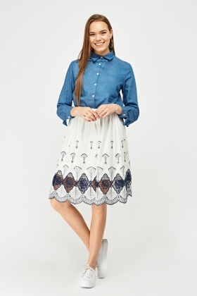 Frilly Trim Detail Shirt