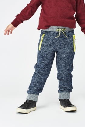 Speckled Zipped Front Jogger Pants