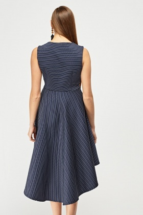 Striped Hi-Lo Skater Dress