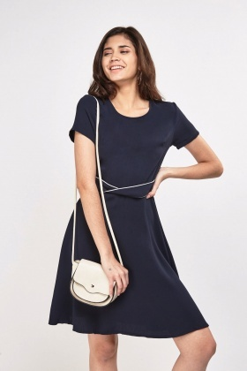 Belted Front Swing Dress