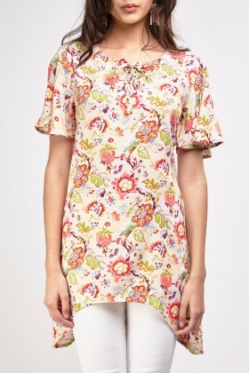 Mixed Floral Printed Top