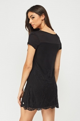 Broderie Net Overlay Dress
