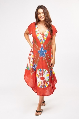 Mix Tie-Dyed Maxi Dress