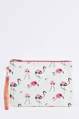 Flamingo Large Cosmetic Bag