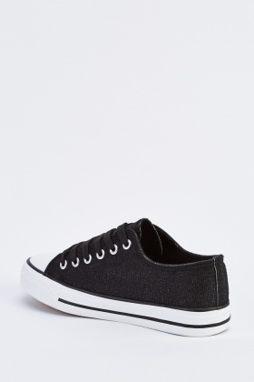 Lurex Lace Up Plimsolls