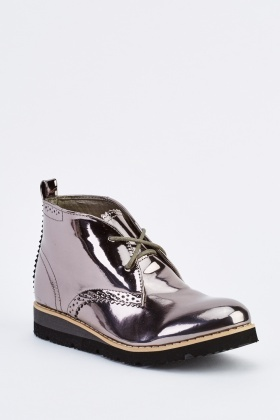 Metallic Ankle Boots