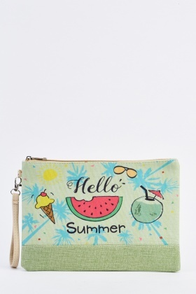 Printed Summer Cosmetic Bag
