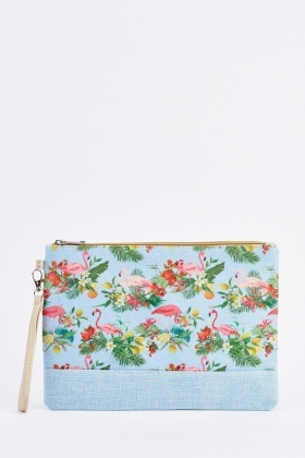 Tropical Flamingo Cosmetic Bag