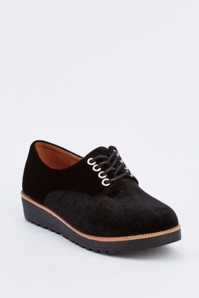 Velveteen Lace Up Brogues
