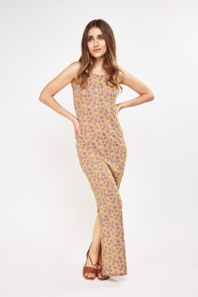 Embroidered Textured Maxi Dress