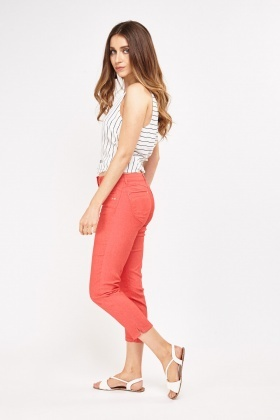 Low Waist Ankle Cropped Jeans