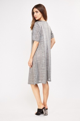 Metallic Speckle Tent Dress