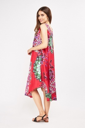 Mixed Print Tent Dress