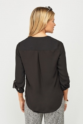 Sheer Black Blouse