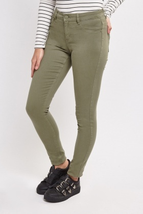 Mid Rise Denim Jeggings