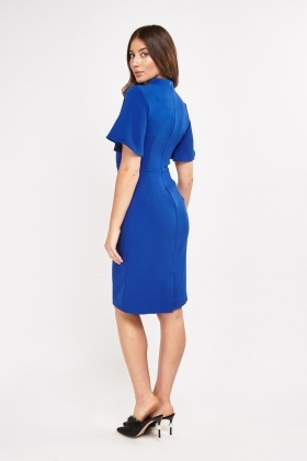 Textured Midi Pencil Dress