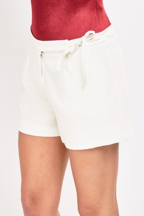 Tie Up Tailored Shorts