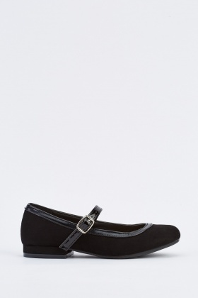 Kids Suedette Mary Jane Shoes