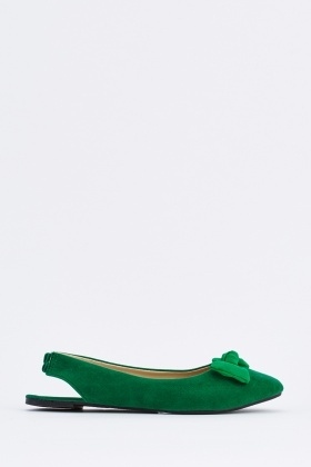 Sling Back Suedette Shoes