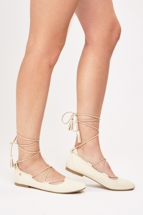 Tie Up Ballet Shoes