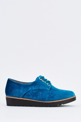 Velveteen Lace Up Shoes