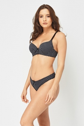 Polka Dot Bra And Brief Set