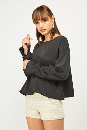 Ruched Gathered Sleeve Blouse