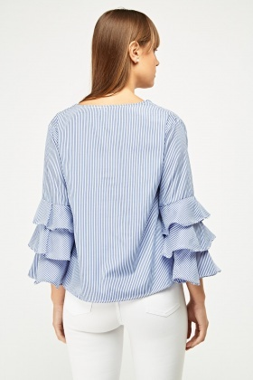 Striped Layered Sleeve Top