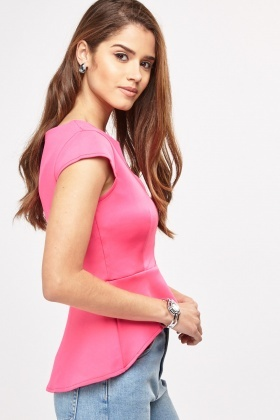 Cap Sleeve Peplum Top