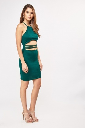 Cut-Out Halter Neck Bodycon Dress