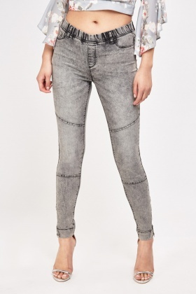 Low Rise Denim Jeggings