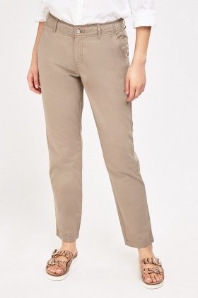 Straight Fit Light Chino Trousers
