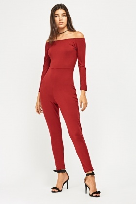 Off Shoulder Basic Jumpsuit
