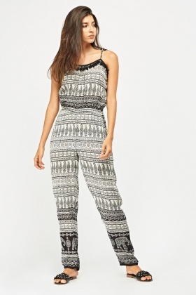 Paisley Mixed Print Jumpsuit